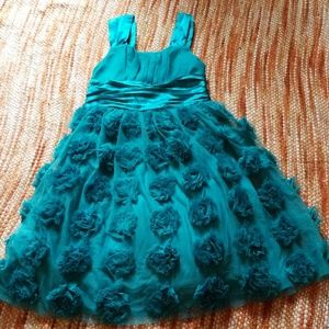 Girls 8 shabby ruffle rose fancy twirl dress